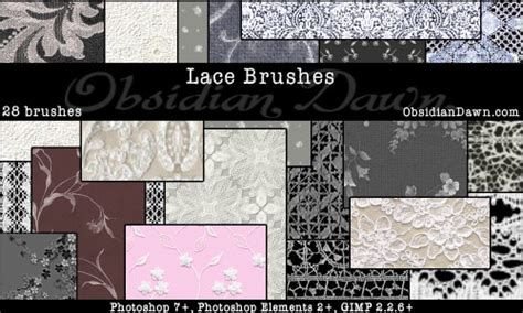 pattern brush gimp lace photoshop gimp brushes obsidian dawn