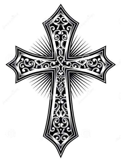 cross tattoo stencils free best 25 tribal cross tattoos ideas on cross