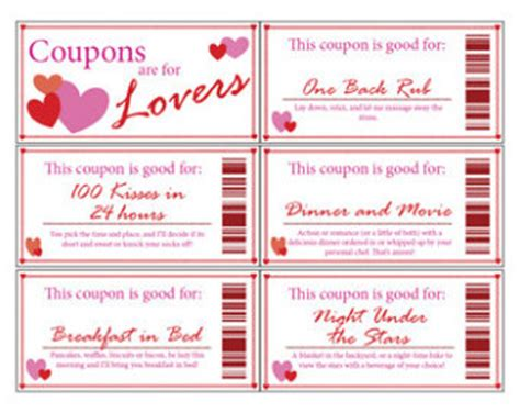 coupons for him template printable coupon book