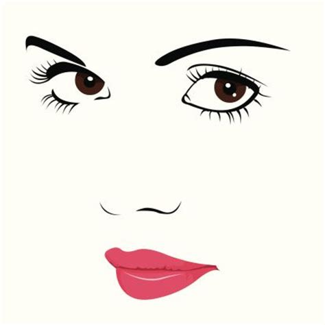 eye shadow clip art cute suspicious face vector