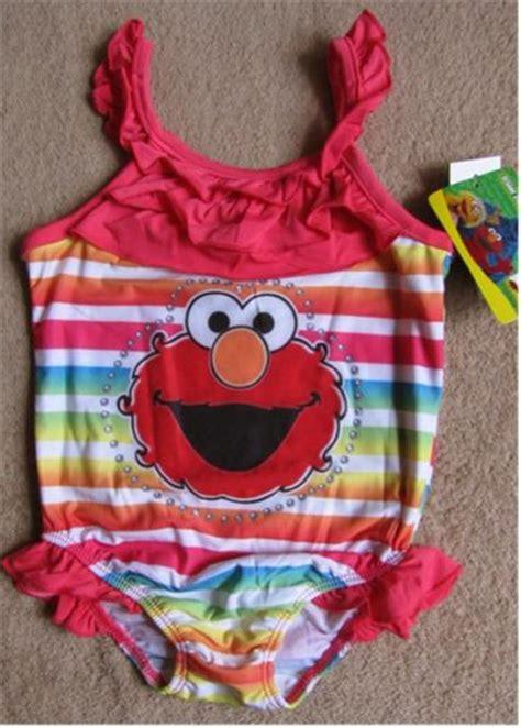 Swimsuit Elmo sesame elmo rainbow bathing swim suit sz 4t ebay