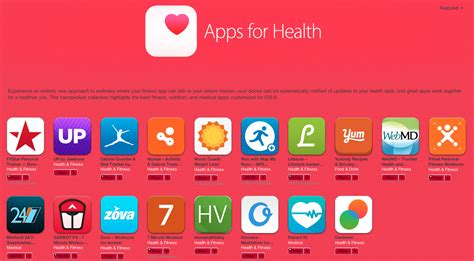 health section itunes store now has new apps for health section for