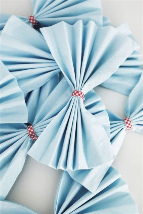 Paper Napkin Folding Designs - paper napkins add a decorative touch to your tables for