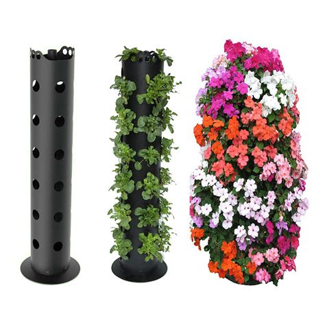 Freestanding Vertical Planter flower tower freestanding vertical planter the green