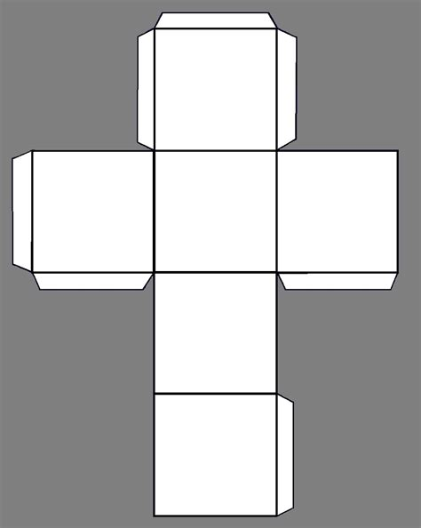 a cube template 7 best images of make a paper cube template cube
