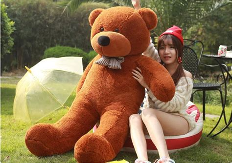 Boneka Teddy Jumbo Big Size 1 free shipping lovely teddy bears stuffed animal big plush large teddy
