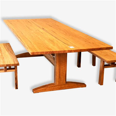 trestle dining table in marri treeton wood studio