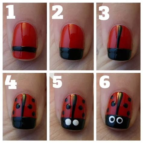 cute easy lady bug nail art youtube diy lady bug nail pictures photos and images for
