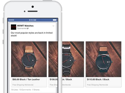 facebook: karussell posts via page post composer, ad