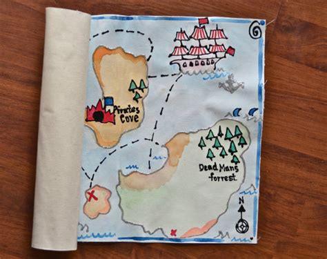 Map Craft Paper - handmade treasure map