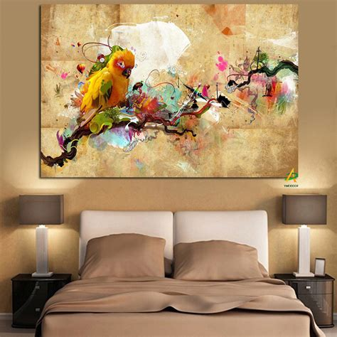 parrot home decor ywdecor hd print artistic paint parrot bird oil painting