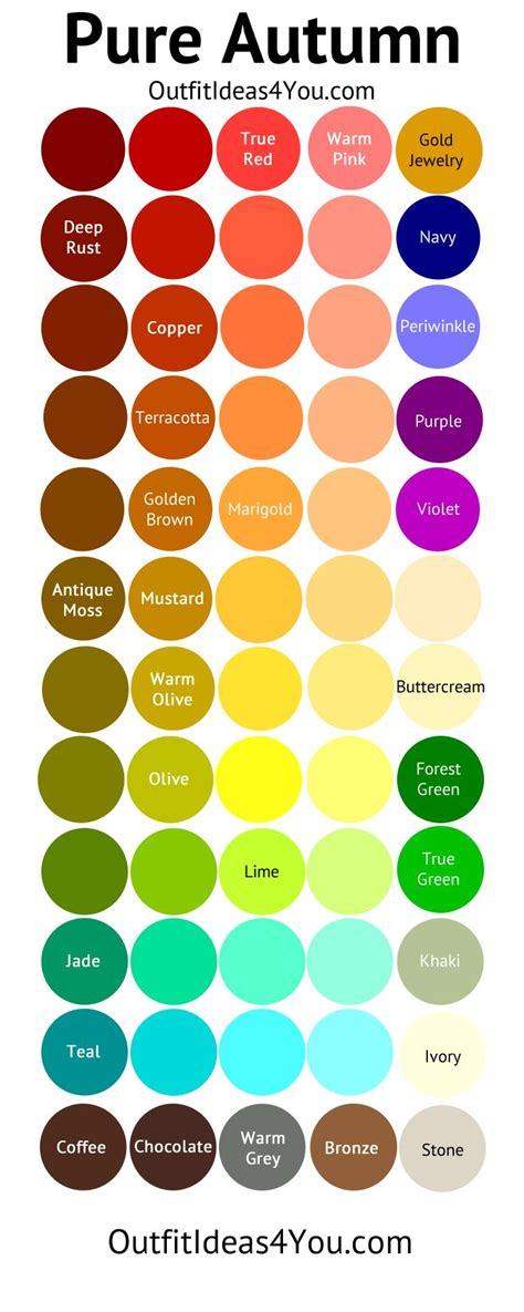fall color pallette best 25 autumn color palette ideas on fall