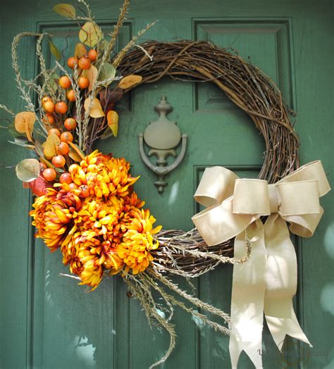 diy wreaths diy fall wreath showcase of autumn colors upright and
