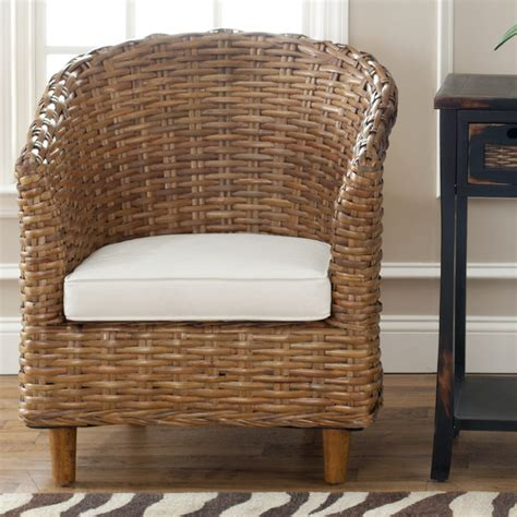 safavieh st indoor wicker honey brown barrel chair