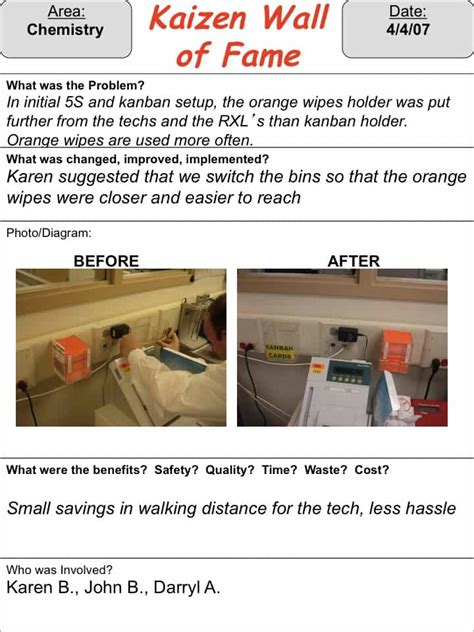 kaizen what is it definition exles and more a call for daily healthcare kaizen exles lean blog