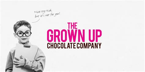Grown Up the grown up chocolate company branding and packaging by