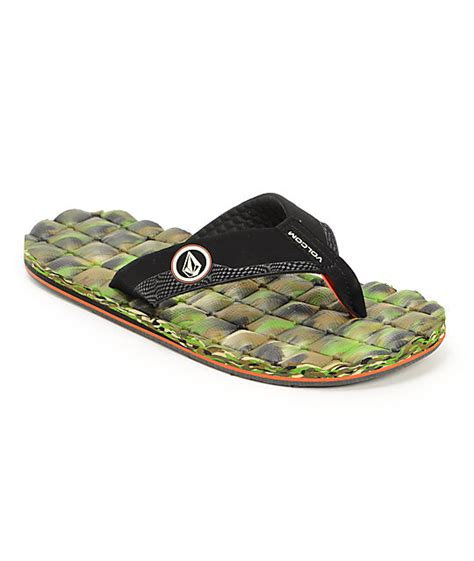 Volcom Recliner Sandals Volcom Recliner Camo Sandals Zumiez