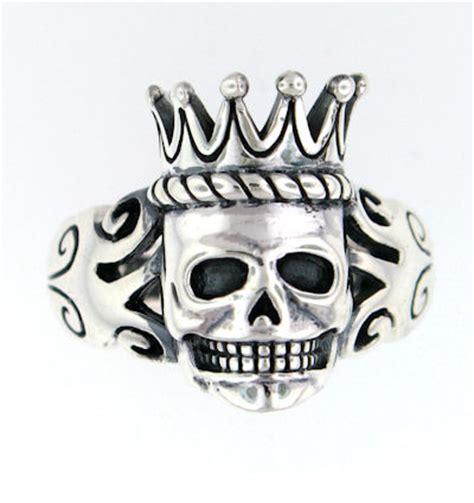 Skull Ring King sterling silver skull king rings silver skull crown rings