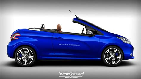 peugeot 208 cabriolet for supermini cabrio rendering collection corsa fiesta polo