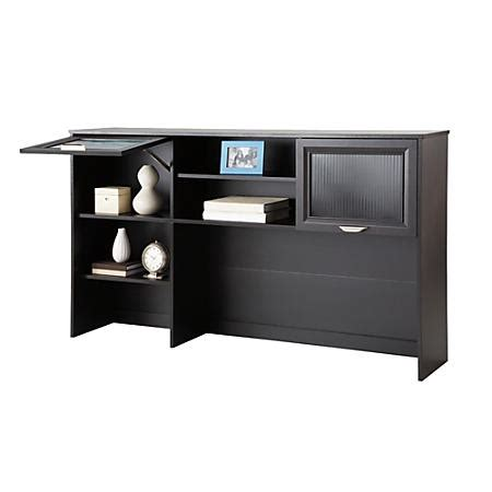 Realspace Magellan Collection Hutch Espresso By Office Office Depot Desks On Sale