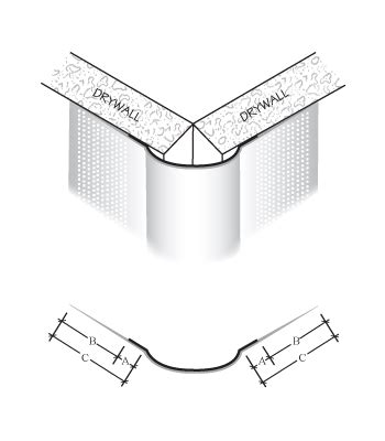 135 degree corner bead paper faced on bullnose metal cornerbead clinch on