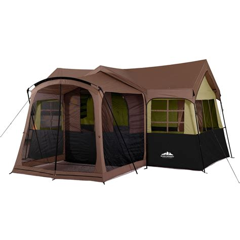 Cabin Tents | northwest territory family cabin with screen porch tent