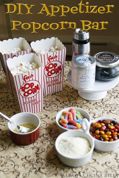 popcorn bar toppings kitchen entertaining diy popcorn bar sarah s cucina bella
