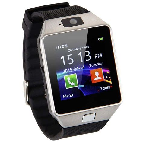 sim card for android phone dz 09 hd bluetooth smart wrist phone sim card for android samsung black ebay