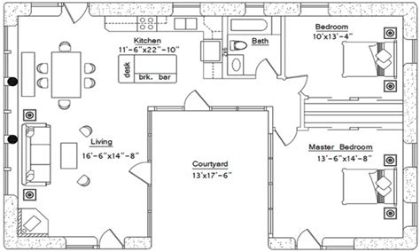 small courtyard house plans small u shaped house plans u shaped house plan with courtyard affordable 2 story house plans