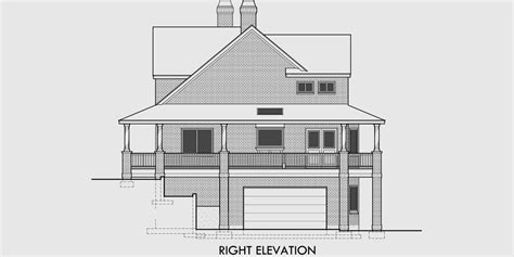 house plans for sloping lots in the rear