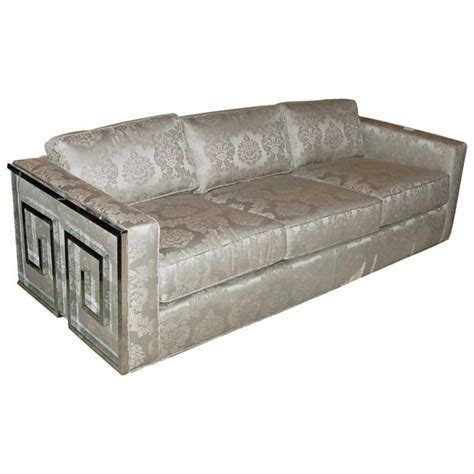 greek sofa glamorous greek key sofa at 1stdibs