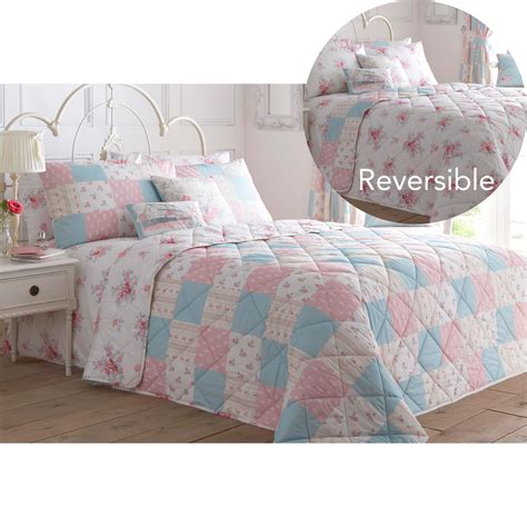 country chic bedding shabby country chic bedspread with flowers reversible