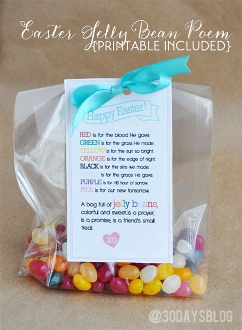 Now N Laters Gum Drops Jelly Beans by Easter Treat Jelly Bean Poem Free Printable