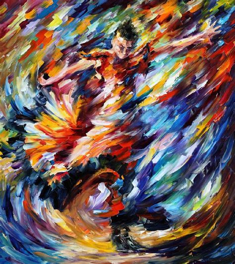 painting work leonid afremov oil on canvas palette knife buy original