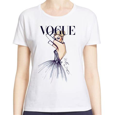 t shirt pattern vogue lady vogue princess snow white print women tshirt fitness