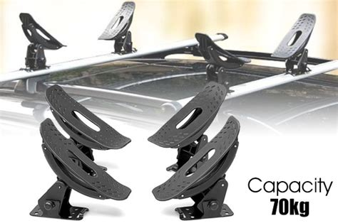 Canoe Straps Roof Rack by Universal Kayak Carrier W Straps 4 Saddle Watercraft Roof Rack Arm Canoe Loader