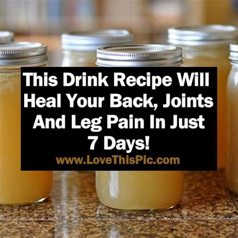 Detox Aches And Pains by This Drink Recipe Will Heal Your Back Joints And Leg