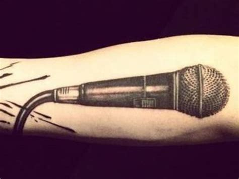 microphone tattoo thumb guess the popstar tattoo microphone tattoo tattoo and