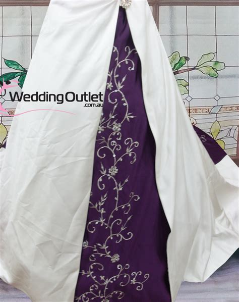 Purple Wedding Dresses Uk by Emily Purple And White Wedding Dresses