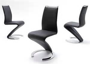 chaise design simili cuir noir ii