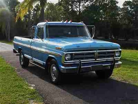 purchase new 1972 ford f250 ranger camper special 360