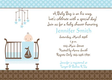 Baby Shower Invitations Templates For Boys by Free Baby Boy Shower Invitations Templates Baby Boy