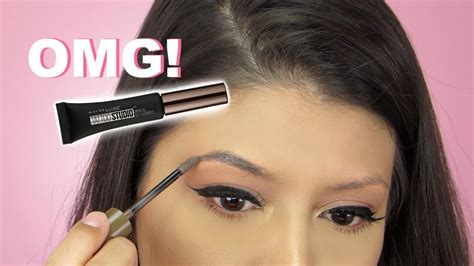 tattoo eyebrows maybelline review omg new maybelline tattoo studio brow gel review