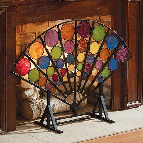 fan shaped fireplace screen 177 best images about stained glass fireplace screens on