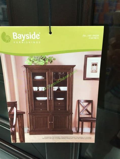 Bayside Furnishings Bookcase Bayside Furnishings Glass Door Bookcase Costcochaser