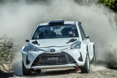 toyota rally car toyota yaris ap4 rally car debuts at arc motor