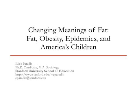 Dissertation Defense Slides Changing Meanings Of Fat Thesis Presentation Ppt