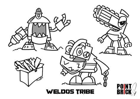 disegni da colorare lego mixels serie 6 weldos tribe