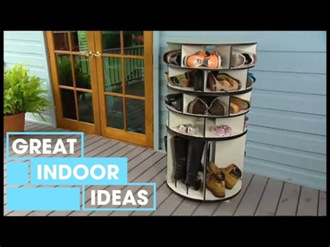diy shoe carousel better homes and gardens diy lazy susan shoe storage