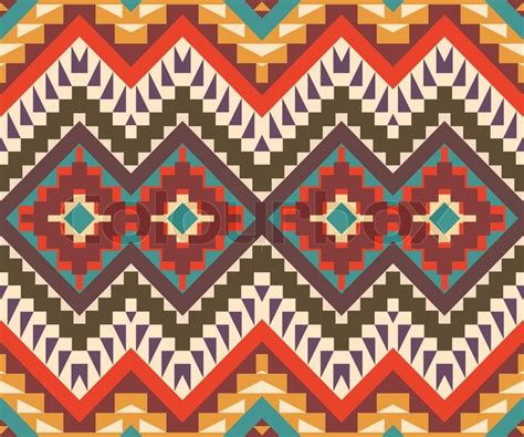 aztec pattern vector seamless colorful aztec pattern stock vector colourbox